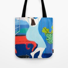 Lady at the Window Tote Bag