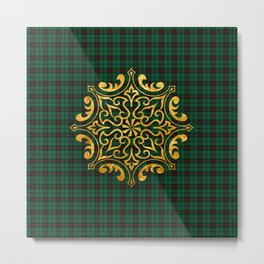 Gold & Green Metal Print