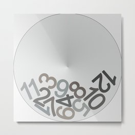 clock digits Metal Print