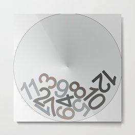 clock digits Metal Print
