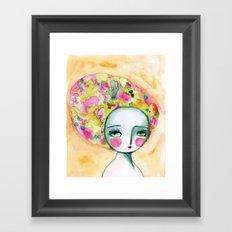 The Muse Of Summer Framed Art Print