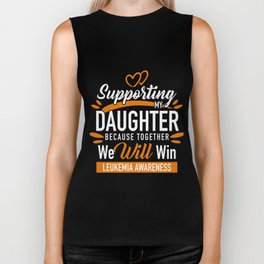 Leukemia Cancer Support Son / Daughter Awareness Biker Tank