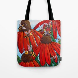 Bee Happy by DeeDee Draz Tote Bag