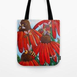 Bee Happy by DeeDee Draz Tote Bag