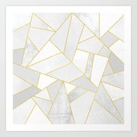 jon snow Art Prints featuring White Stone by Elisabeth Fredriksson