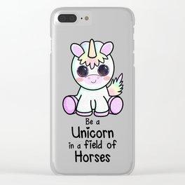 Be a Unicorn Clear iPhone Case