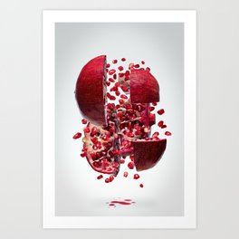 Flying Pomegranate Art Print