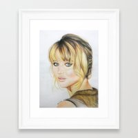 jennifer lawrence Framed Art Prints featuring Jennifer Lawrence by Pritish Bali