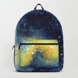 Yellow galaxy watercolor Backpack