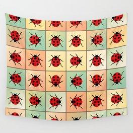 Ladybugs pattern Wall Tapestry