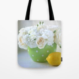 Polka Dots and a Lemon Tote Bag