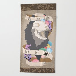 Do No Harm - Take No S#!T (censored) Beach Towel