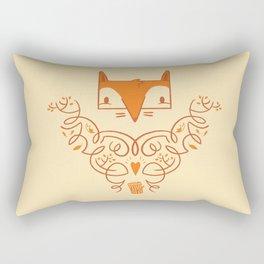 Ornate Fox Rectangular Pillow