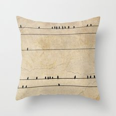 Gang Of Crows Throw Pillow