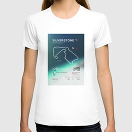 Silverstone Racetrack Infographic T-shirt