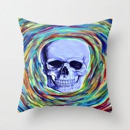 A Skull's Vortex Throw Pillow