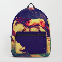 Horses to the moon by #Bizzartino Backpack