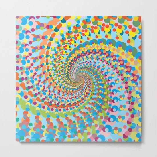 Colour Mix Spiral Metal Print