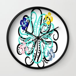 pretty octupus Wall Clock