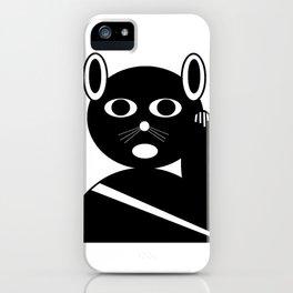 Maneki neko black version. iPhone Case