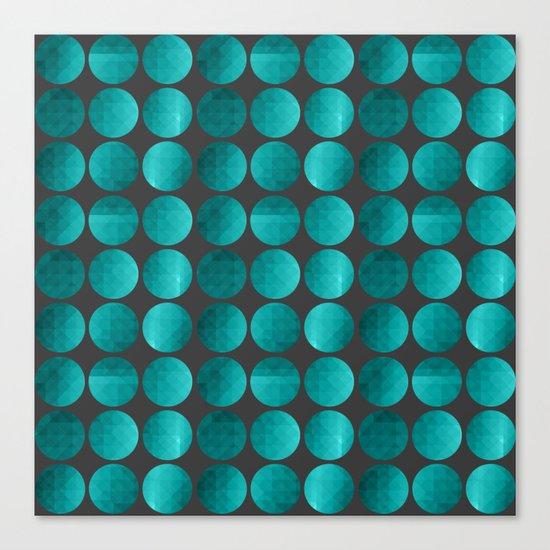Emerald circles Canvas Print