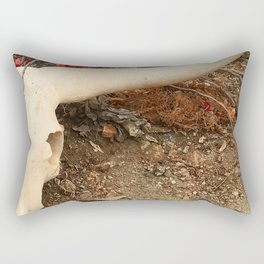 Texas Longhorn Steer Skull Art Photo Rectangular Pillow