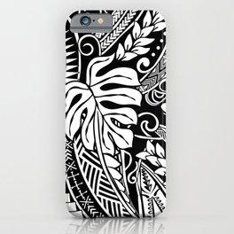 Vintage White Samoan Tribal Design iPhone Case