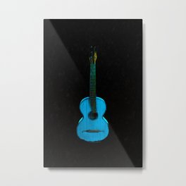 Blue Guitar Music Music Lover Instrument Metal Print