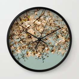 Falling Into Spring Wall Clock
