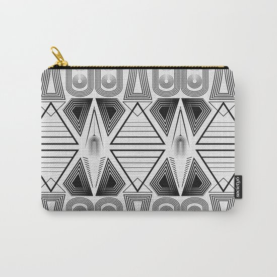 "Art Deco. ""Black and light gray"" 28 . Carry-All Pouch"