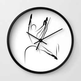 Pilates pose6 Wall Clock