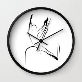 Pilates pose6 Wall Clock