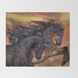 HORSES - On sugar mountain Throw Blanket