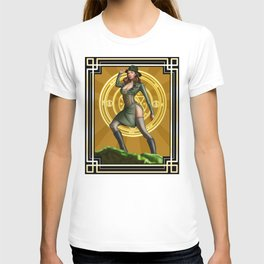 Circadian Circle 1950s World War II Woman Wizard T-shirt