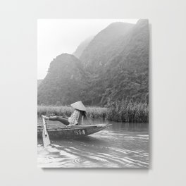 Rowing by feet in Tam Coc | Vietnam | Travel photography | Fine Art | Photo Print |  Metal Print