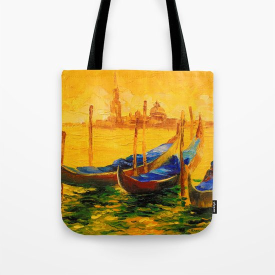 Golden evening in Venice Tote Bag