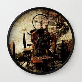 Scrap Tractor Wall Clock