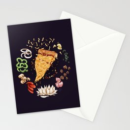Pizza Mandala Stationery Cards