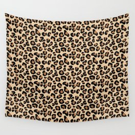 Leopard Print, Black, Brown, Rust and Tan Wall Tapestry