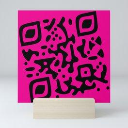 QR Clothes Magenta Mini Art Print