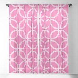 Trellis Pink Sheer Curtain