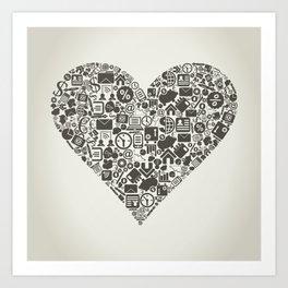Business heart Art Print