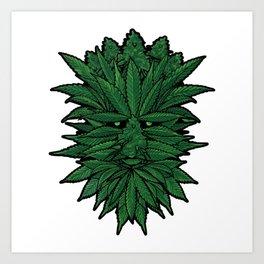 The Greenest Man Art Print
