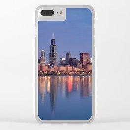 Chicago Sunrise Clear iPhone Case