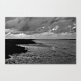 River to the open Danish Sea Canvas Print