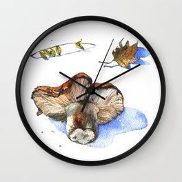 Watercolor nature collection. Wall Clock