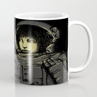 horror Mugs featuring Space Horror by pigboom el crapo