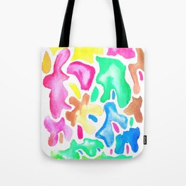 170623 Colour Shapes Waterolour 14| Abstract Shapes Drawing | Abstract Shapes Art |Watercolor Painti Tote Bag