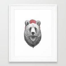 bearded bear Framed Art Print