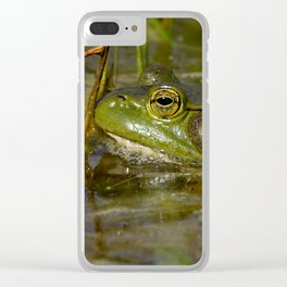 Frog in the Water Clear iPhone Case